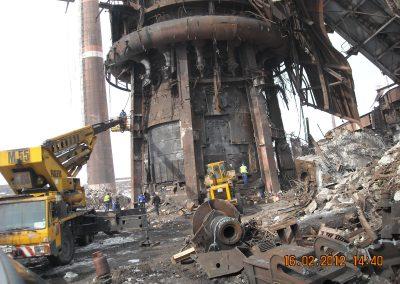 Разрушаване на стоманени и стоманобетонни съоръжения на територията на комбинат Кремиковци