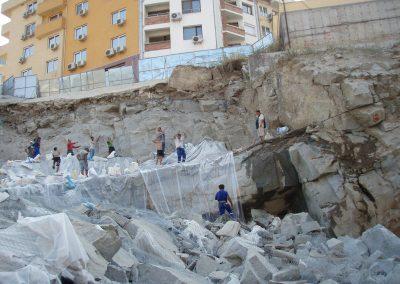 Изкоп за основи в гр. Пловдив кв. Марково тепе