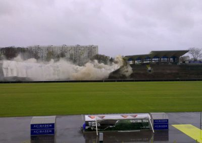 Controlled demolition of Sector A – Gerena Stadium