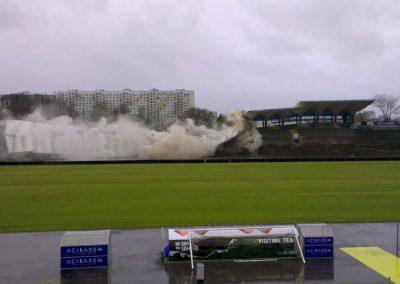 Разрушаване на Сектор А-Стадион Герена