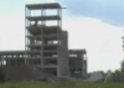 Разрушаване на сграда и силози в циментов завод, гр. Плевен