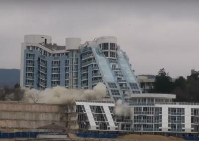 """Разрушаване на Хотел """"Рубин"""", гр.Варна"""