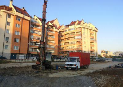 Сондажни работи за укрепване на изкоп в район Триадица