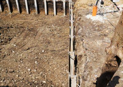 Укрепване на изкоп в район Витоша