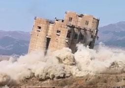 Demolition of silos in Kremikovtsi