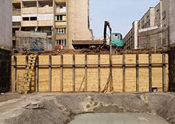 Укрепване на изкоп в жк. Стрелбище