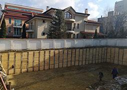 Укрепване на изкоп в район Студентски град