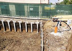 Trench strengthening in Vitosha region